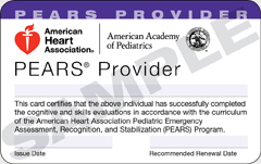 AHA-PEARS(ペアーズ)プロバイダーカード資格証 in 岡山,広島,兵庫,香川,中国,四国