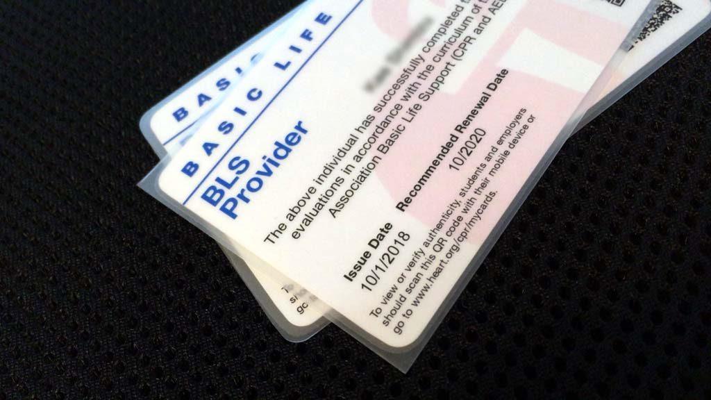 AHA-BLSプロバイダーカードの最新版eCard(イーカード:eカード)の印刷ラミネート加工サービス