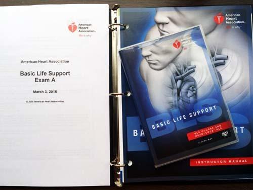 AHAガイドライン2015版BLSプロバイダーコース筆記試験問題とDVD教材