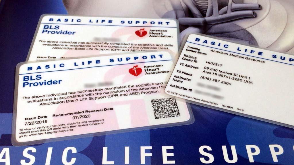アメリカ心臓協会AHA-BLSプロバイダーカード:救命・蘇生に関する国際資格