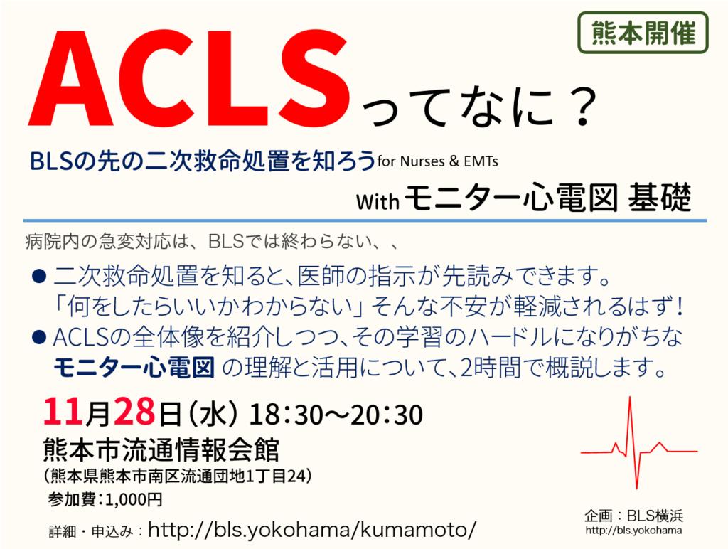 ACLSとモニター心電図の基礎セミナーin九州熊本
