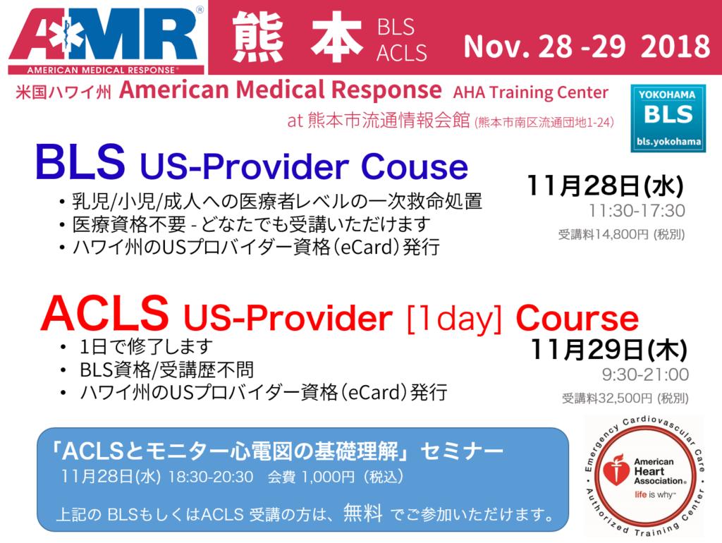 ACLS1日コース、ハワイのUSプロバイダー資格が取得。受講のチャンスです。熊本,鹿児島,福岡,宮崎,佐賀,長崎,九州の医師、看護師、救急救命士向け