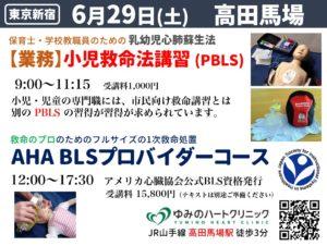 都内東京新宿AHA-BLSプロバイダーコース、小児救命法講習