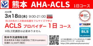 九州熊本ACLSプロバイダー1日コース