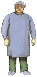 標準予防策感染防護具PPEフル装備