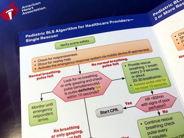 AHA蘇生ガイドライン2020で改定された小児BLSのアルゴリズム